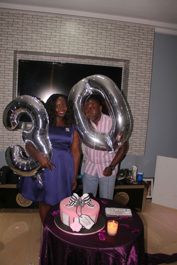 The celebrant and her husband