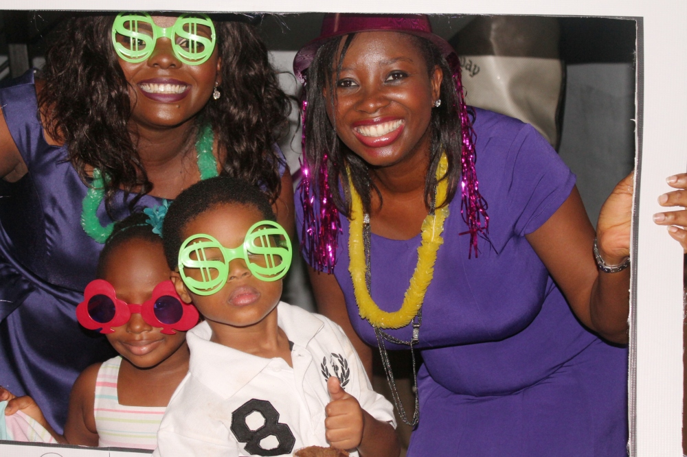 The celebrant, her daughter, her friend and her friend's son