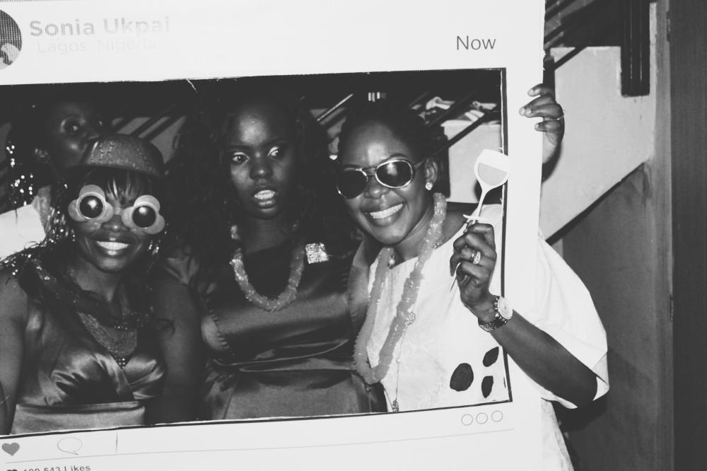 The celebrant, Aunty Bimbo and her friend