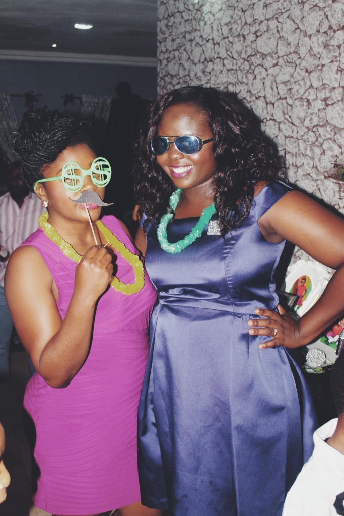 The celebrant and her friend