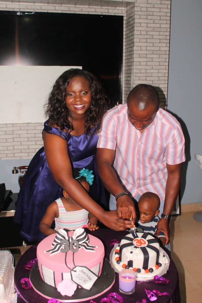 The celebrant and her family